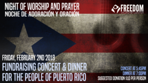 Night of Worship Fundraiser poster